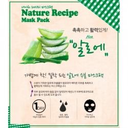 Secret Key Nature Recipe Mask Pack Aloe - Маска тканевая алоэ, 20 г