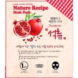 Secret Key Nature Recipe Mask Pack Pomegranate - Маска тканевая гранат, 20 г