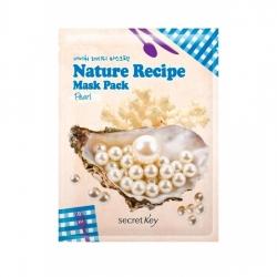 Secret Key Nature Recipe Mask Pack Peal - Маска тканевая жемчуг, 20 г
