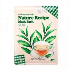 Secret Key Nature Recipe Mask Pack Tea Tree - Маска тканевая чайное дерево, 20 г