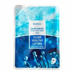 Deoproce Color Synergy Effect Sheet Mask Blue - Маска тканевая с морским коллагеном, 20 г