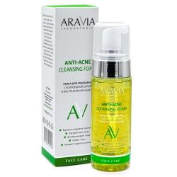 Aravia Laboratories Anti-Acne Cleansing Foam - Пенка для умывания с коллоидной серой и экстрактом женьшеня, 150мл