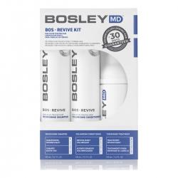 Bosley Воs Revive Starter Pack for Non Color-Treated Hair - Система для истонченных неокрашенных волос 150 мл+150 мл+100 мл