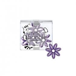 Invisibobble NANO Meow & Ciao - Резинка-браслет для волос мерцающий фиолетовый, 3шт