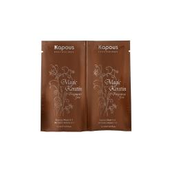 Kapous professional fragrance free magic keratin express mask - Экспресс-маска с кератином 2х12 мл