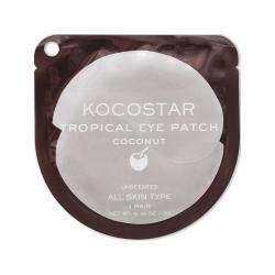Kocostar Tropical Eye Patch (Coconut) Single - Гидрогелевые патчи для глаз Тропические фрукты (2 патча/1 пара) (Кокос) 3г