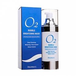 Deoproce O2 Bubble Brightening Mask - Маска кислородная для лица осветляющая, 100 мл