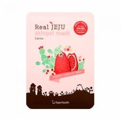 Berrisom Real Jeju Skingel Mask Cactus 5P Firming - Маска для лица с кактусом, 25 мл