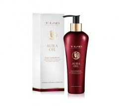 T-LAB Professional Aura Oil DUO Shampoo - ДУО-шампунь для сияния и гладкости волос, 300мл
