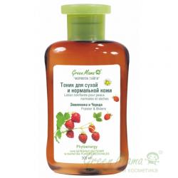 Green Mama Формула тайги - Тоник для сухой и нормальной кожи Земляника и Череда, 300 мл