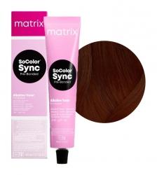 Matrix SoColor Sync Pre-Bonded - Крем-краска без аммиака Колор Синк 3WN темный шатен теплый натуральный 90 мл