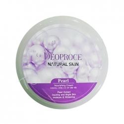 Deoproce  Natural Skin Pearl Nourishing Cream - Крем для лица и тела питательный с экстрактом жемчуга, 100 гр