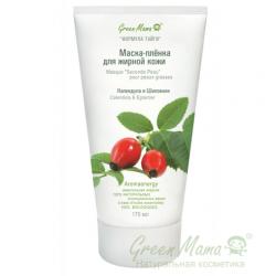 Green Mama Формула тайги - Маска-пленка для жирной кожи Календула и шиповник, 170 мл