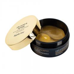 FarmStay  24K Gold & Peptide Solution Ampoule Eye Patch - Патчи гидрогелевые для глаз с 24-х каратным золотом и пептидами, 60 шт