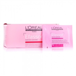L'oreal professionnel efassor: салфетки для удаления краски с кожи лореаль эфассор, 36 шт по 3 гр