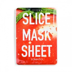 Kocostar Slice Mask Sheet Tomato - маски в виде ломтиков помидора, пропитаны экстрактом томатов, 20 мл