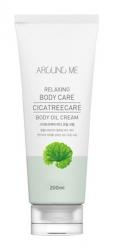 Welcos Around me Cicatreecare Body Oil Cream - Крем-масло для тела с центеллой и чайным деревом, 200 гр