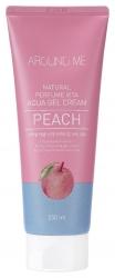 Welcos  Around me Natural Perfume Vita Aqua Gel Cream Peach -  Крем-гель для тела с ароматом персика, 230 мл