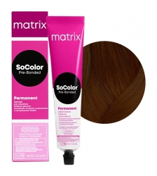 Matrix SoColor Pre-Bonded - Крем-краска перманентная Соколор Бьюти 5NW натуральный теплый светлый шатен 90 мл