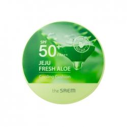 The Saem Jeju Fresh Aloe Cooling Cushion Natural Baige SPF 50+PA+++  - Кушон охлаждающий солнцезащитный, 12 гр