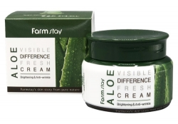 FarmStay Aloe Visible Difference Fresh Cream - Крем для лица увлажяющий с экстрактом алое, 100 гр