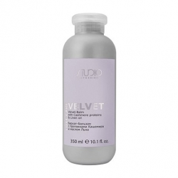 Kapous studio luxe care velvet-balm with cashmere proteins & linen oil - Бархат-бальзам с протеинами кашемира и маслом льна, 350мл