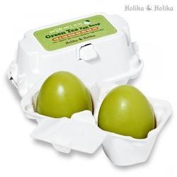 Holika Holika Green Tea Egg Soap - Мыло-маска ручной работы с зеленым чаем, 50г х2