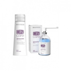 Selective On Care Detoxygen Set - Набор для ухода за кожей головы с целью удаления токсинов и насыщения ее кислородом 250 + 100 мл