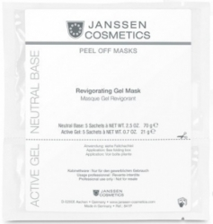 Janssen Peel off masks Revigoration Gel Mask - Ревитализирующая альгинатная гель-маска (саше 38,5г+11,5г)