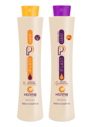 Honma Tokyo Plast Hair Bixyplastia Passion Fruit - Набор для проведения процедуры кератиновое выпрямление с маракуйей, 2*250 мл