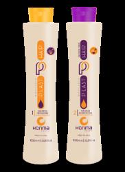 Honma Tokyo Plast Hair Bixyplastia Passion Fruit - Набор для проведения процедуры кератиновое выпрямление с маракуйей, 2*100 мл