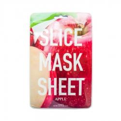 Kocostar Slice Mask Sheet APPLE- маски в виде кружочков яблока, пропитаны экстрактом яблока, 20 мл