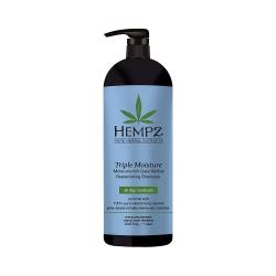 Hempz Triple Moisture Replenishing Shampoo - Шампунь Тройное увлажнение, 1000 мл