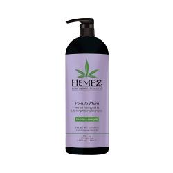 Hempz Vanilla Plum Herbal Moisturizing & Strengthening Shampoo - Шампунь  растительный увлажняющий и укрепляющий Ваниль и Слива, 1000 мл