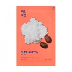 Holika Holika Pure Essence Mask Sheet Shea Butter - Питающая тканевая маска, с маслом ши, 20 мл