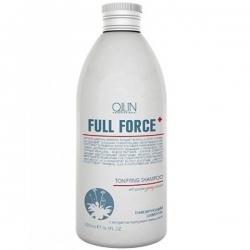 Ollin Full Force Hair Growth Tonic Shampoo - Тонизирующий шампунь с экстрактом пурпурного женьшеня 300 мл