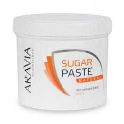 """Aravia Professional - Сахарная паста для депиляции """"Натуральная"""" мягкой консистенции, 750 г"""