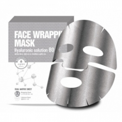 Berrisom Face Wrapping Mask Hyaruronic Solution 80 - Маска для лица с гиалуроновой кислотой, 27 мл