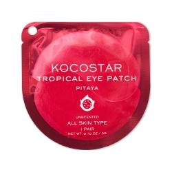 Kocostar Tropical Eye Patch (Pitaya) Single - Гидрогелевые патчи для глаз Тропические фрукты, Питахайя (2 патча/1 пара) 3г