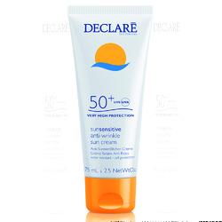 Declare Anti-Wrinkle Sun Cream SPF 50+ - Солнцезащитный крем SPF 50+ с омолаживающим действием, 75 мл