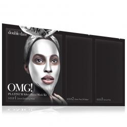 Double Dare OMG! Platinum Silver Facial Mask Kit - Маска трехкомпонентная для ухода за кожей лица серебряная