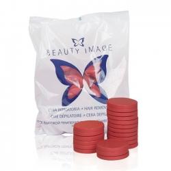 Beauty Image - Воск горячий Красный с геранью (в дисках), 1000 г