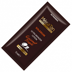 MegaTan Coconut Tropic Ultra bronzing lotion + Bronzer - Ультра лосьон-бронзер, 15 мл