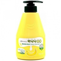 Welcos Kwailnara Banana Milk Body Cleanser - Гель для душа с экстрактом банана, 560 мл