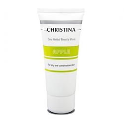 Christina Sea Herbal Beauty Mask Green Apple - Яблочная маска красоты для жирной и комбинированной кожи 60 мл