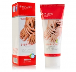 3W Clinic Enrich Lovely Foot Treatment - Восстанавливающий  крем для ног, 150 мл