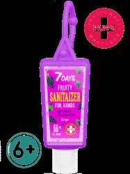 7 Days Grape - Детский гель для рук c антисептическим эффектом 6+, 30 мл