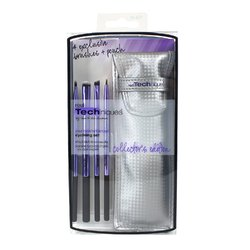 Real Techniques Ltd. Edition Back To School Eyelining Brush Set - Набор кистей для подводки