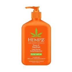Hempz Yuzu & Starfruit Daily Herbal Body Moisturizer SPF 30  - Молочко солнцезащитное увлажняющее для тела Юдзу и Карамбола SPF 30, 250 мл