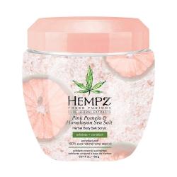 Hempz Pink Pomelo & Himalayan Sea Salt Herbal Body Salt Scrub - Скраб для тела Помело и Гималайская соль, 155 г